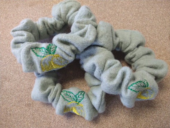 Upcycled Fleece Fruit Scrunchie Pack
