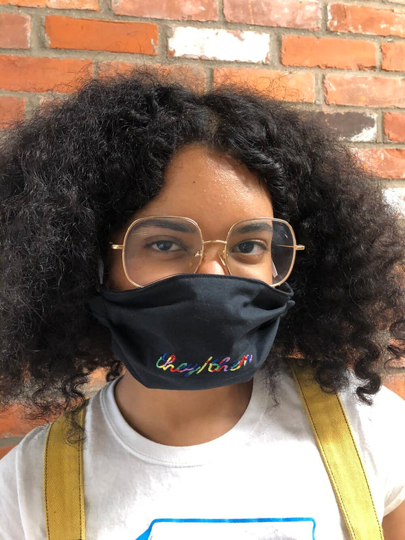 Pronoun Face Mask