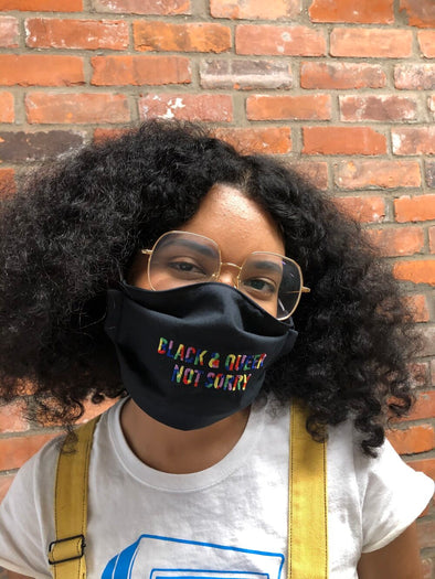 Black & Queer Not Sorry® Face Mask