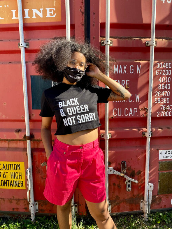 Black & Queer Not Sorry® Cropped Tee