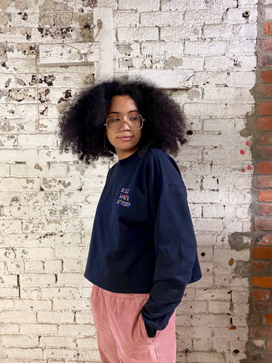 Black & Queer Not Sorry® Embroidered Cropped Crew