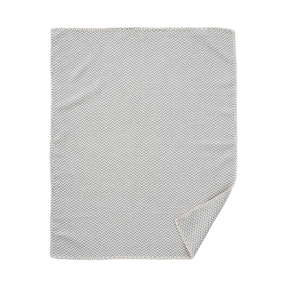 Small Chevron Organic Cotton Blanket