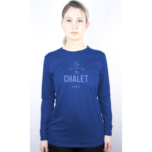 Load image into Gallery viewer, Blue Merino Long Sleeve Shirt CHALET