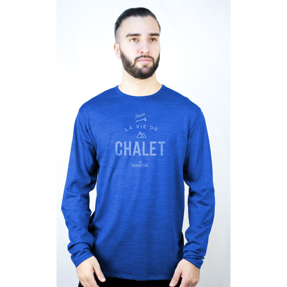 Blue Merino Long Sleeve Shirt CHALET