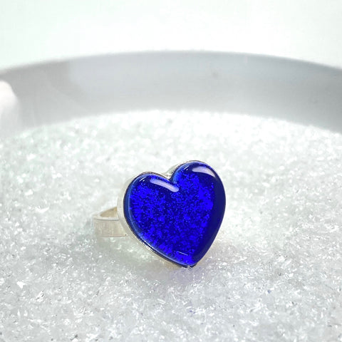 Heart Ring in Cobalt