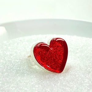 Heart Ring in Cherry