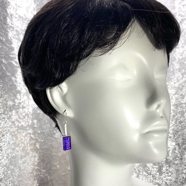 Swing Drop Earrings in Grape