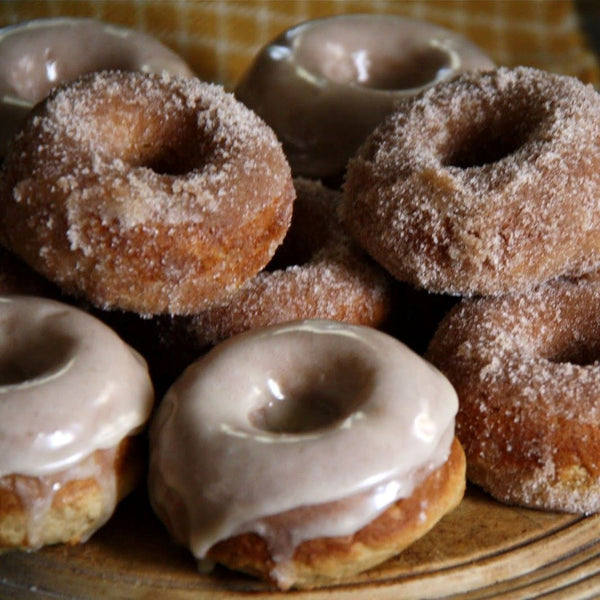 Doughnut platter with a selection of four flavors