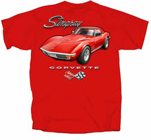 Load image into Gallery viewer, Corvette Stingray and C3 Logo T-shirt AMERICAN MUSCLE