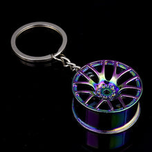 Load image into Gallery viewer, Luxury Wheel Hub Key Chain Zinc Alloy Tire Styling Car Key Ring Auto Modification Parts Key Holder For Ford Auto Accessories
