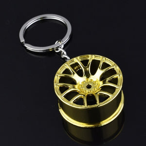 Luxury Wheel Hub Key Chain Zinc Alloy Tire Styling Car Key Ring Auto Modification Parts Key Holder For Ford Auto Accessories