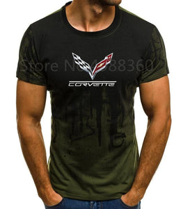 High quality 2019 Men's Brand Clothing summer Chevrolet corvette T-shirt short-sleeved shirt CAN-AM BRP cool T-Shirt