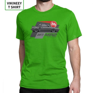 AW11 JDM T-Shirts Japanese Car Sportcar Automotive Engine T Shirt Man New Clothes Awesome O-Neck 100% Cotton Tees
