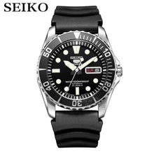 Load image into Gallery viewer, seiko watch men 5 automatic watch Luxury Brand Waterproof Sport Wrist Watch Date mens watches diving watch relogio masculin SNZF