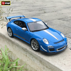 Bburago 1:18  Porsche 911 GT3 RS car alloy car model simulation car decoration collection gift toy Die casting model boy toy