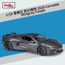 Load image into Gallery viewer, Maisto 1:18 2020 Chevrolet Corvette Stingray Coupe Diecast Model Car