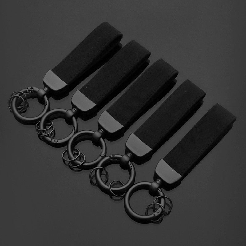 Suede Leather Car Keychain for Sline RS AMG R for Benz for M for V W  Key Ring