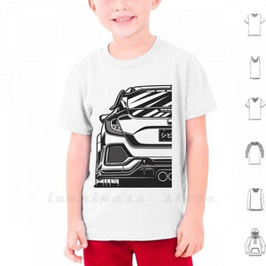 Civic Type R Fragment T Shirt 6Xl Cars Vehicle Auto Automotive Vector Legend Jdm Japan Wheel Car Race Racing Sport Sportcar