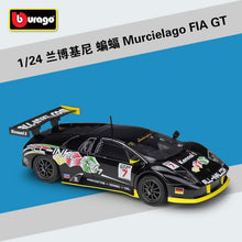 Load image into Gallery viewer, Bburago 1:24 Corvette C6R Racing Car Static Simulation Diecast Alloy Model Car