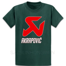 Load image into Gallery viewer, Akrapovic Motorsport Exha T Shirt Designer Comical Sunlight Clothing Spring Autumn Pictures Cotton Round Collar Shirt