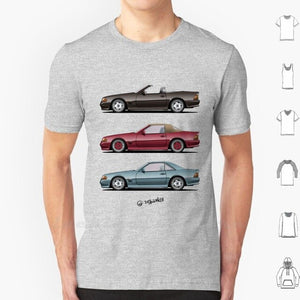 Classic T Shirt Cotton 6Xl Automotive Automotivearts Carposters Speedhunters Rauhweltbegriff Coupe Cabrio Sl Roadster Car W124