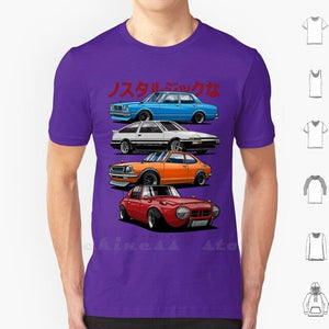 Jdm Mix. Sports 800 , Ae86 , Cressida And Levin Te27 T Shirt Cotton Cars Vehicle Auto Automotive Vector Legend Jdm Japan Wheel
