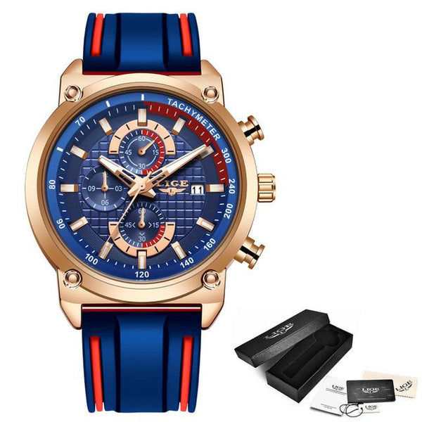 LIGE New Mens Watches Top Brand Luxury Dial Clock Male Fashion