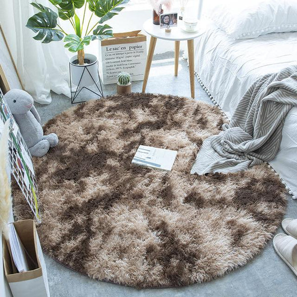 Luxurious fur rug