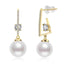 Natural Cultured Freshwater Pearl Drop Earring
