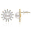 Sun Natural Cultured Freshwater Pearl Stud Earring