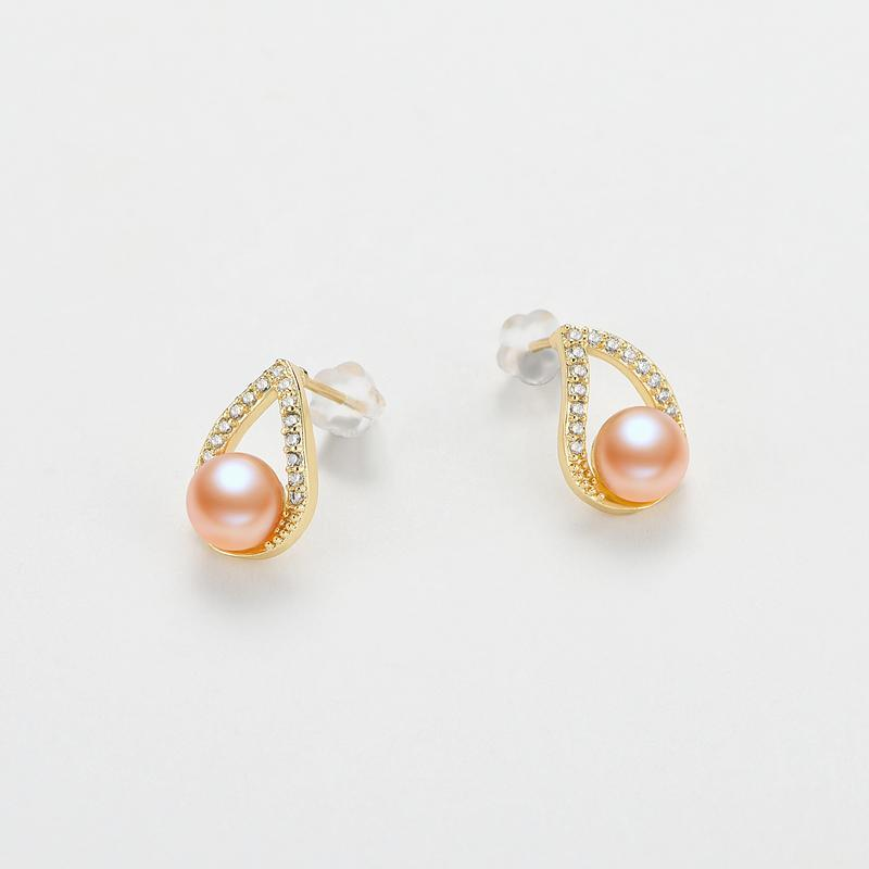 Water Drop Natural Cultured Freshwater Pearl Earring