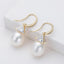 Luxury Trillion Natural Cultured Freshwater Pearl Drop Hook Earring