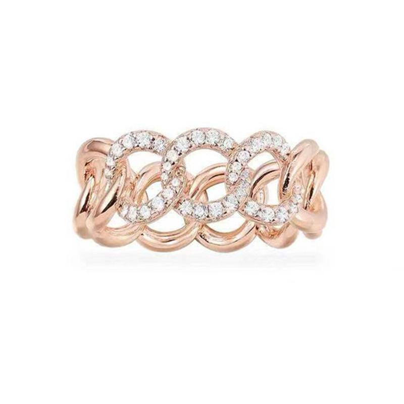 Criss Cross Created Diamond Band Ring