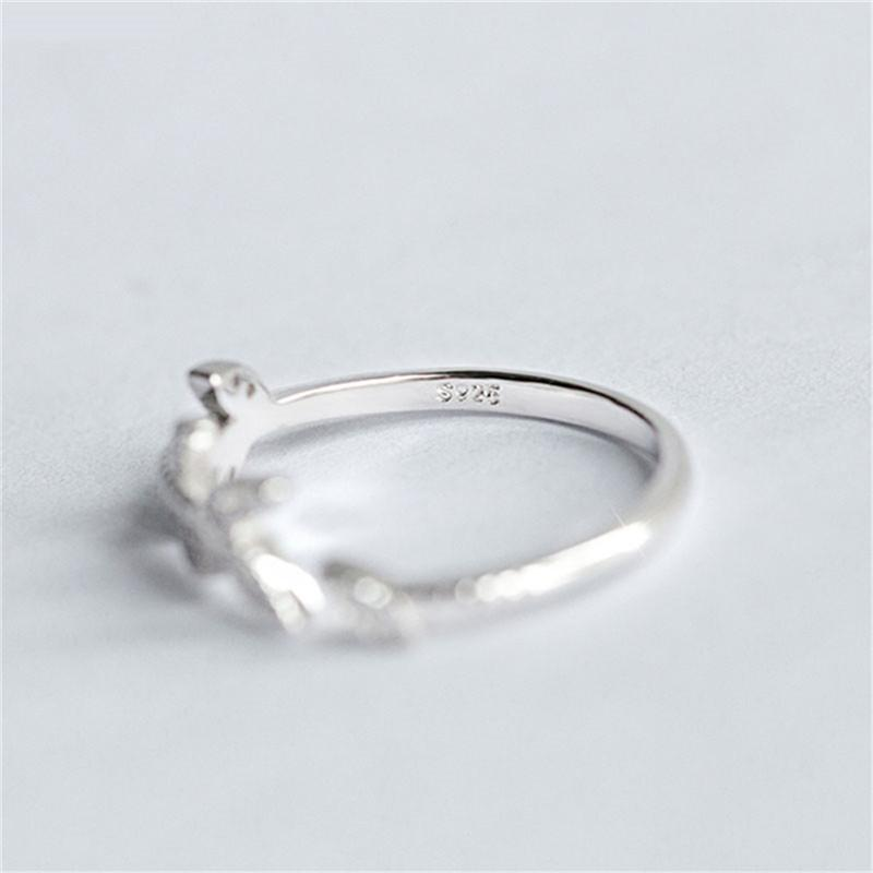 Sterling Silver Two-Stone Ring