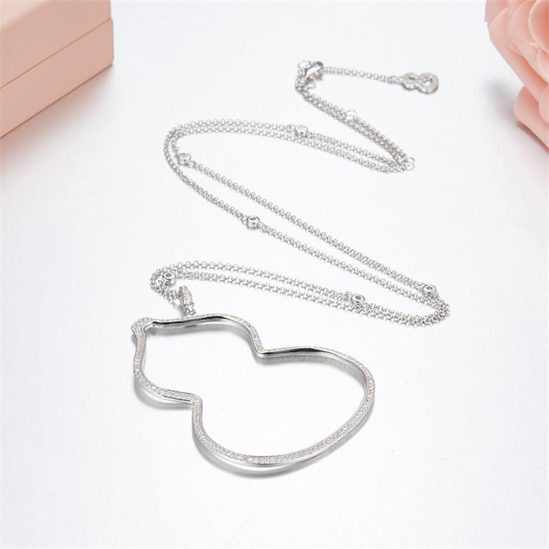 Cute Gourd Shape Pendant Sterling Silver Necklace