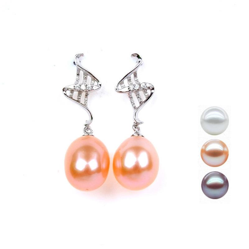 Fresh Pearl 925 Sterling Silver Ear-Rings