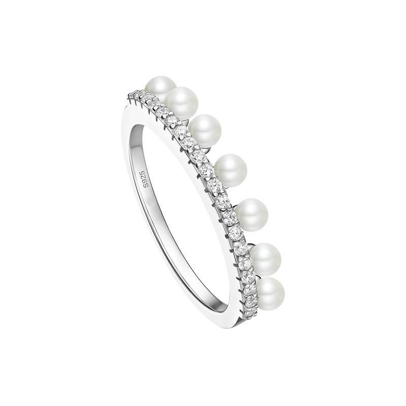 Sterling Silver Pearl Skirt Ring
