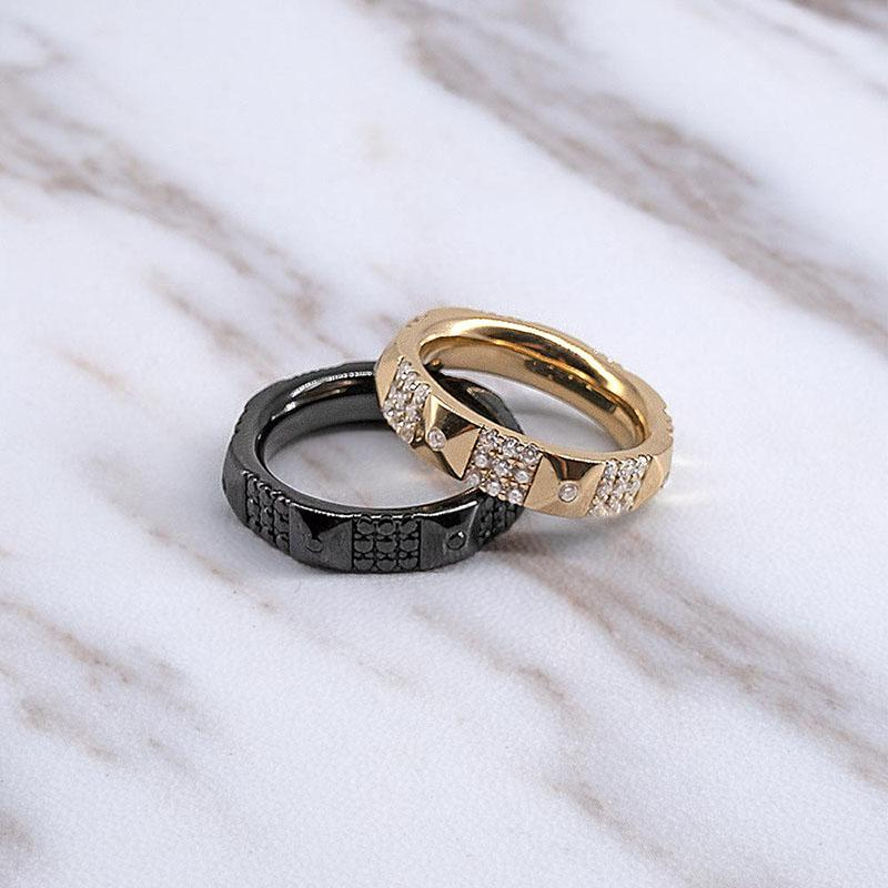 Sterling Silver Geometric Couple Ring