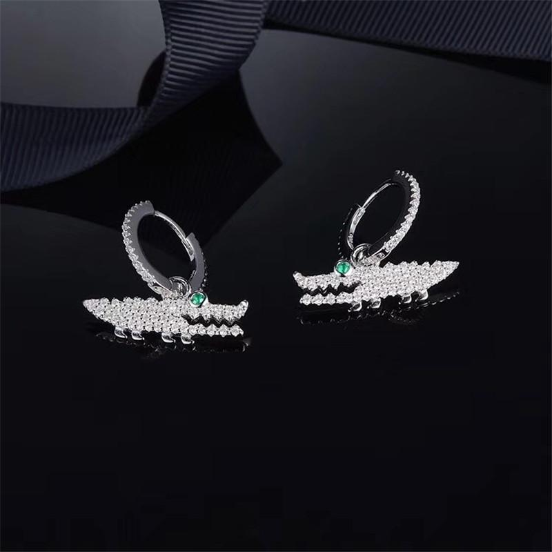 Crocodile Sterling Silver Hook earrings