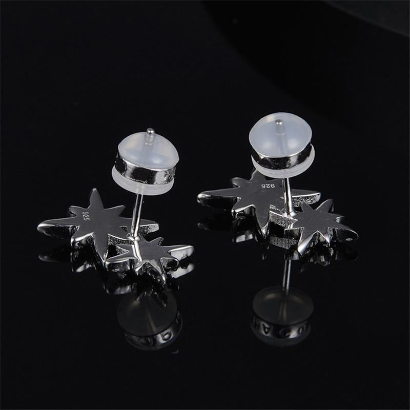 Snowflake Sterling Silver Stud Earrings