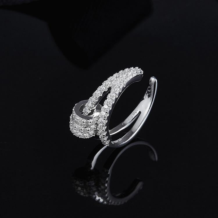925 Sterling Silver A High-End Mini-Crystal Diamond Single Earrings Clip