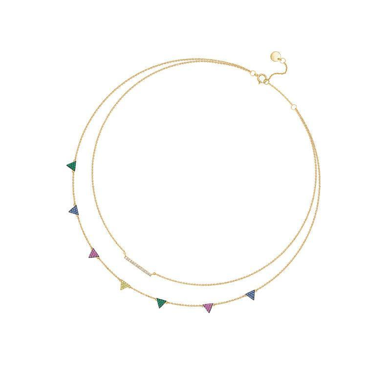 Small Bunting Multicolor Necklace