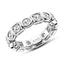 Round  Created White Diamond Full Eternity Ring