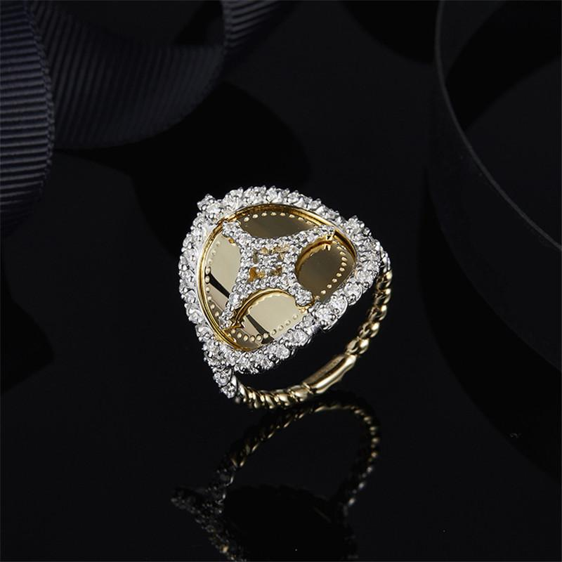 Yellow Gold Vintage Created Diamond Ring