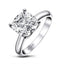 Princess & Cushion & Round & Asscher Cut Created White Diamond Solitaire Ring