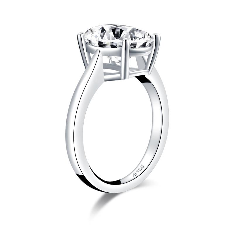 Oval Created White Diamond Solitaire Ring