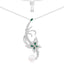Butterfly Pearl Pendant Sterling Silver Necklace