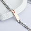 Birthstone Chain Bracelet For Women Personalized Engraved Name ID Bracelets In Rose Gold