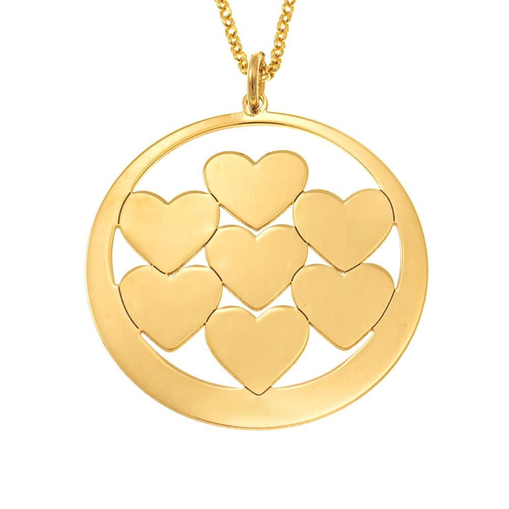 Circle Hearts Mom Necklace