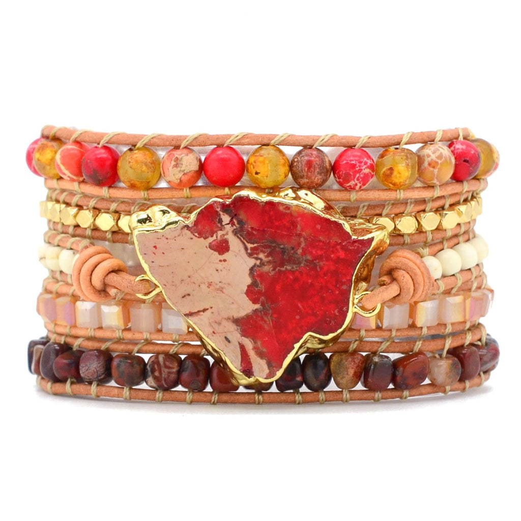 Native Bonfire Jasper Wrap Bracelet